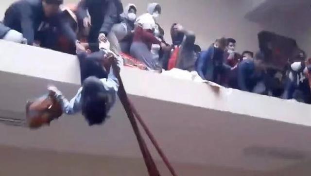 玻利维亚一大学走廊护栏断裂 至少6人坠亡5人重伤