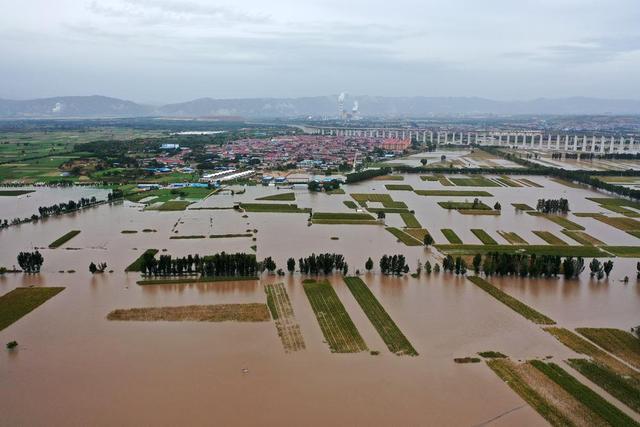 极端强降雨侵袭山西!从60万米高空看水灾有多严重