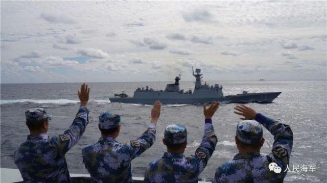 中俄海军首次海上联合巡航圆满结束