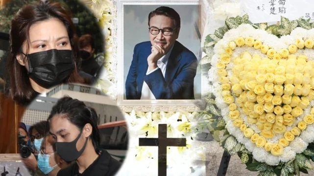 吴孟达出殡仪式举办 妻儿一身素服面带哀色