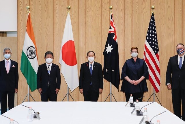 """印媒:想跟中国打的是美国 印应该退出""""四方对话"""""""