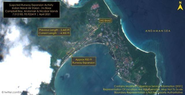 警惕!印度正扩建靠近马六甲海峡的空军基地跑道