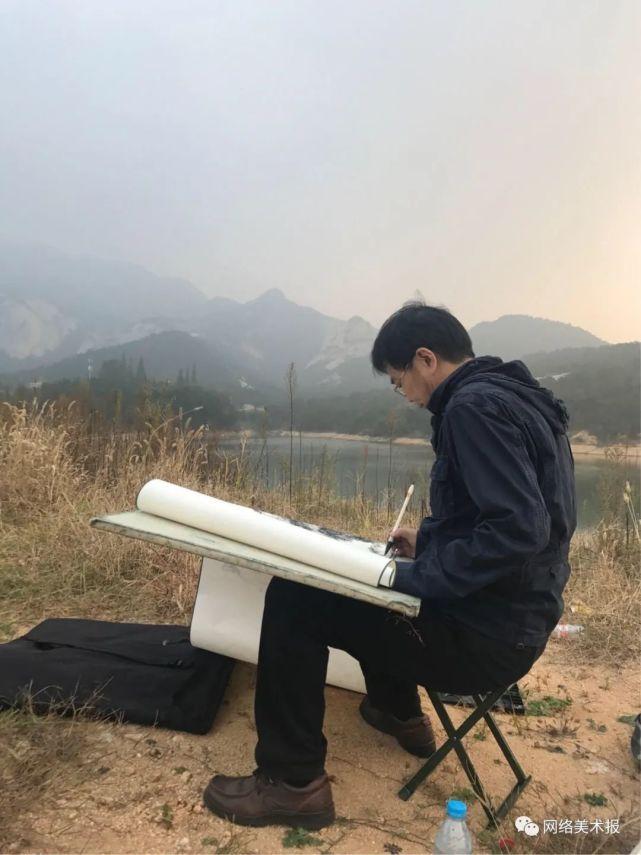 著名画家王焕波应邀参展中国画名家邀请展,庆祝建党100周年