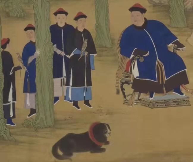 清 佚名《亲藩围猎图卷》局部 北京故宫博物院藏