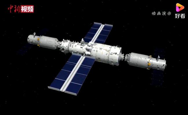 一段动画带你看中国空间站天和核心舱发射过程