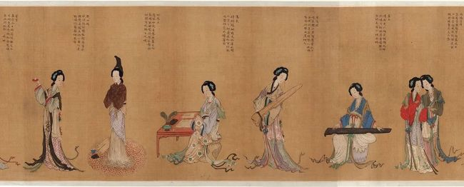 明 《千秋绝艳图》(局部)中国国家博物馆藏