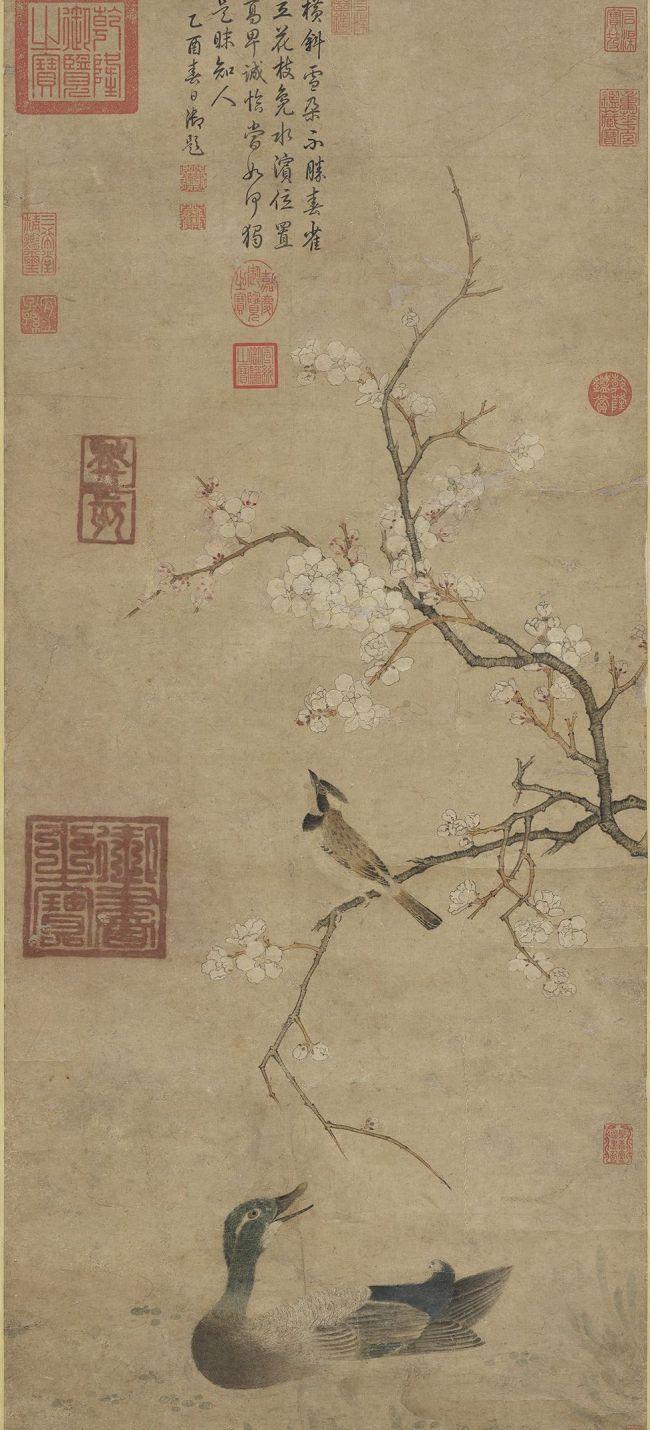 传宋徽宗《梨花》轴 台北故宫博物院藏