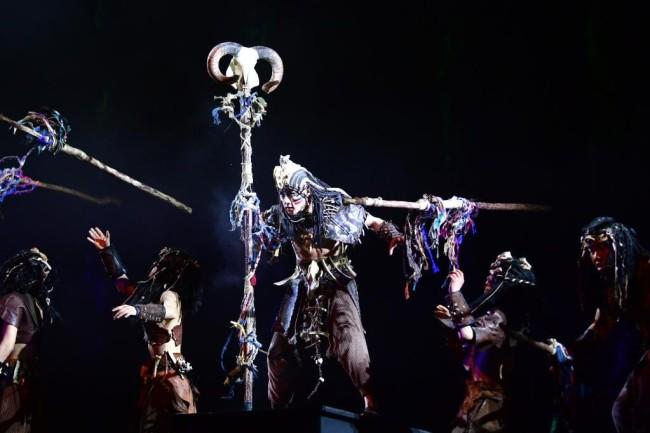 4月26日,演员在大型情境体验剧《天水千古秀》上演出。新华社记者 陈斌 摄