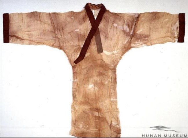 素纱襌衣(直裾)。图片来源:湖南省博物馆网站