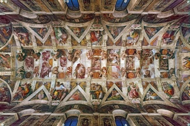 《创世纪》 米开朗基罗1508~1512年 现藏于梵蒂冈西斯廷教堂礼拜堂