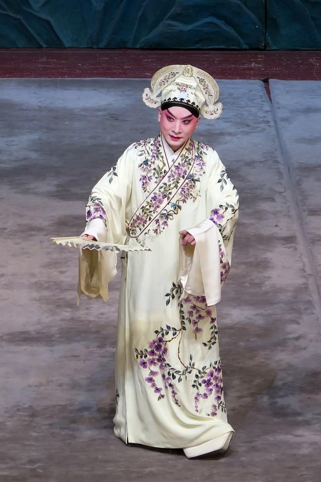 金喜全在京剧《柳荫记》中的梁山伯扮相