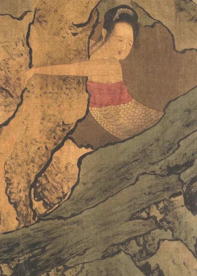 宋代《搜山图》残卷中的蛇精。