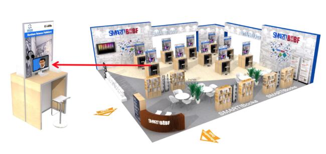 SMART!BIBF智慧展台为无法来华的海外展商提供图书展示的服务。20多家海外出版社将通过外商虚拟展位参展,国内出版社在书展现场与外商进行视频洽谈。类型涵盖科技、社科、文学、生活、童书类。