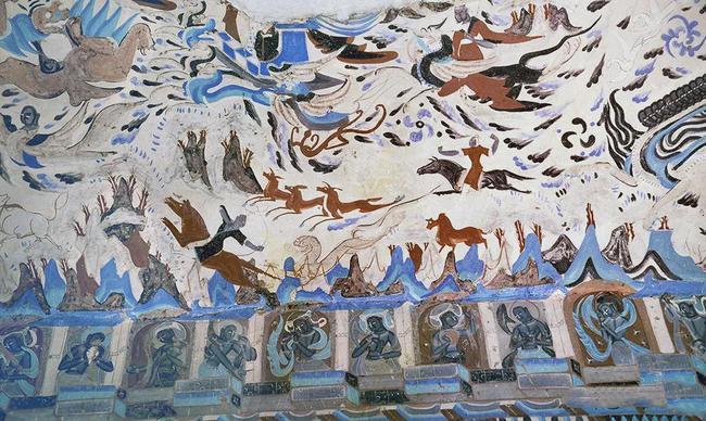 1978年拍摄的莫高窟内壁画