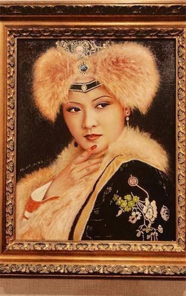 平儿扮演者沈琳油画作品《王熙凤》