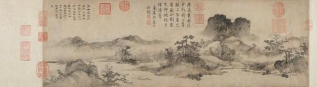 《淀湖送别图卷》元 李升 上海博物馆藏