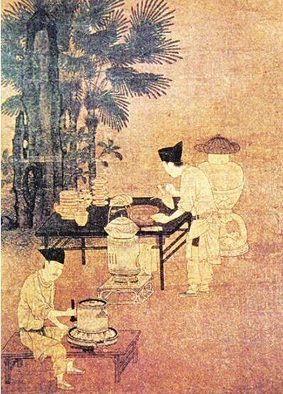 宋·刘松年《撵茶图》(局部)