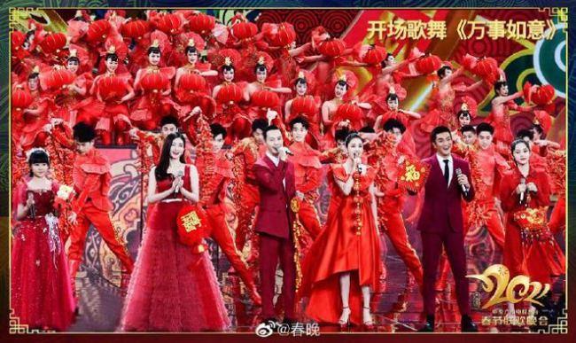 吉祥高照 佟丽娅江疏影等表演春晚开场歌舞超喜庆