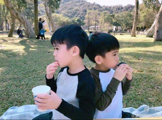 46岁林志颖晒双胞胎儿子萌照 分享自己的育儿心得