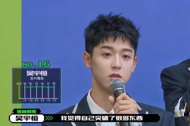 《创造营2021》第二次顺位 吴宇恒第16名顺利晋级