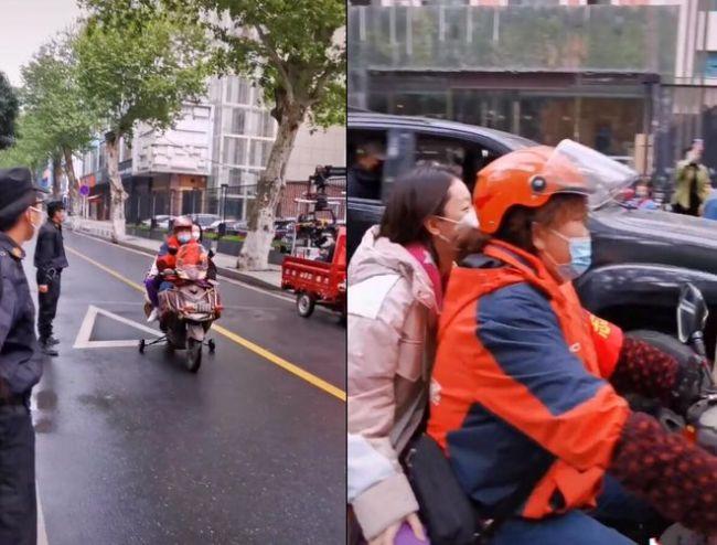 贾玲骑电动车载周冬雨超接地气 被指身形对比明显