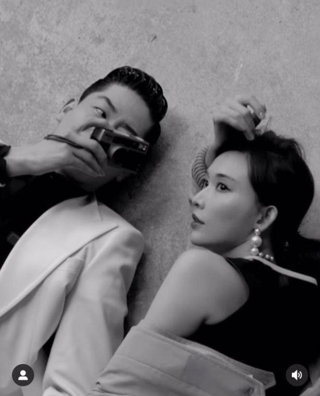 林志玲罕与日籍老公拍大片破婚变传言 秀性感香肩