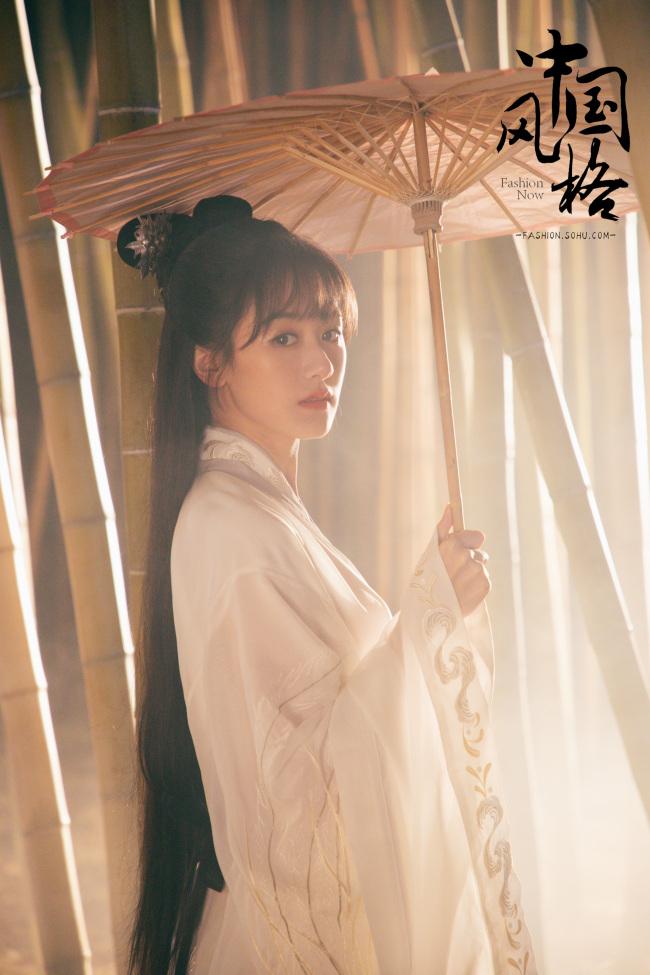 穿汉服的袁冰妍 是中国女孩最美的模样