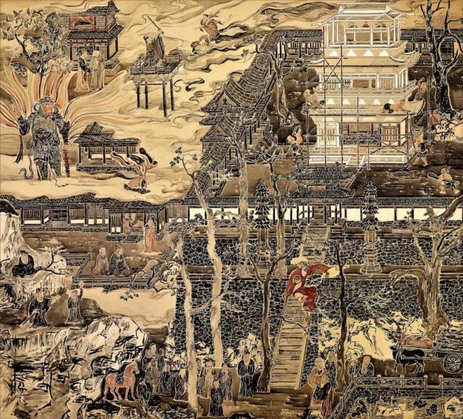 灵隐寺十八幅壁画,展现济公传奇的一生