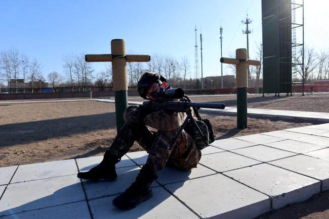严寒条件下 武警北京总队执勤第十支队开展实战化训练