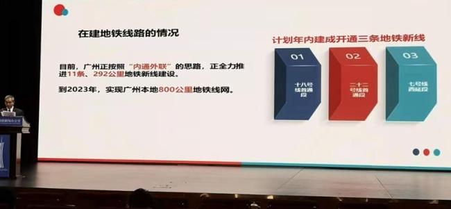 """广州已开通运营14条地铁线路 实现在""""十三五""""期间区区通地铁的目标"""