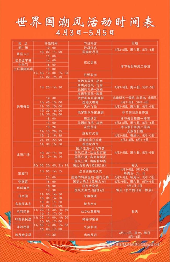 2021年五一深圳世界之窗有什么活动?(附演出时间表)