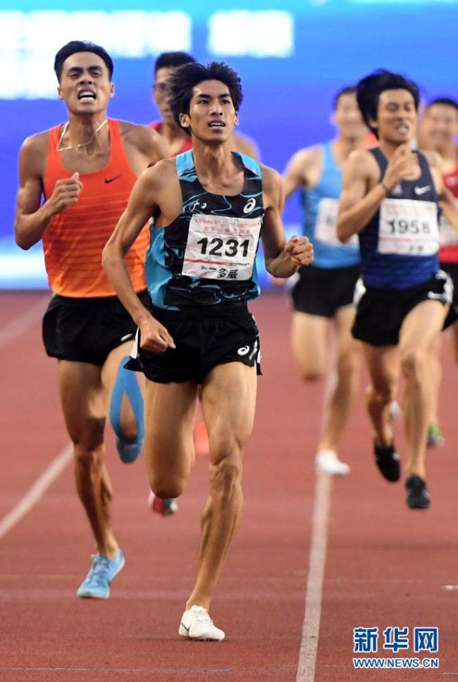 2021年全国田径锦标赛 刘德助以3分43秒36成绩夺得1500米冠军