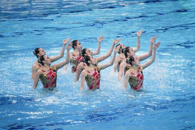 全运会广东首金诞生 花样游泳比赛在西安奥体中心游泳跳水馆收官