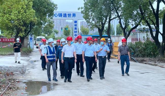 合肥市副市长葛斌到中国宝武安徽(产业)总部首发项目调研