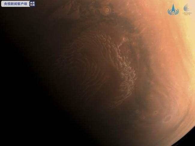 国家航天局发布天问一号探测器拍摄高清火星影像