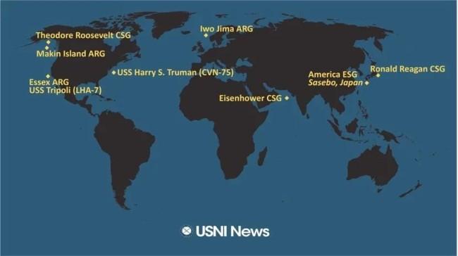马上,太平洋里一艘美国航母都没有了