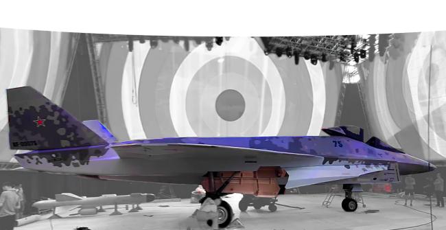 俄罗斯新款五代机真容曝光,进气道造型奇特