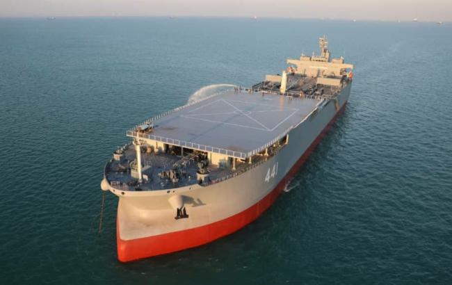 伊朗军舰出现在英吉利海峡附近的卫星照和位置示意图