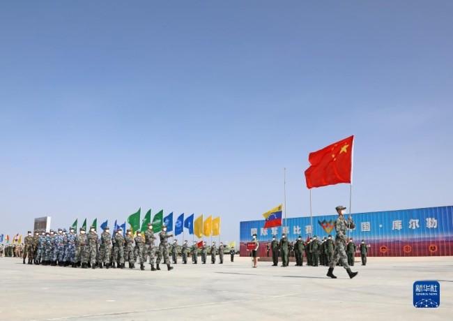 """""""国际军事比赛-2021""""中国库尔勒赛区比赛开幕"""