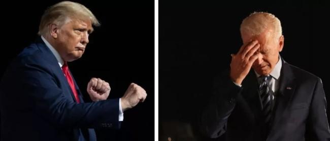 """特朗普向拜登""""宣战"""":一秒KO你!"""