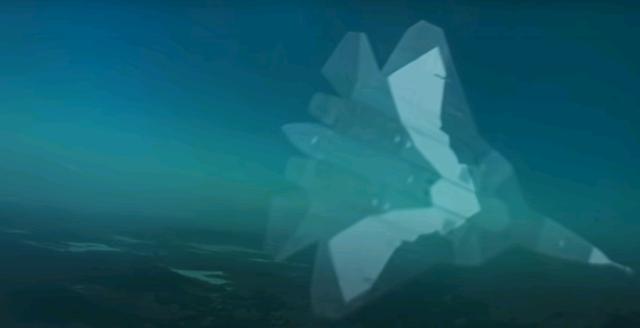 利用AR技术出现在飞行员眼前的俄罗斯苏-57隐形战斗机