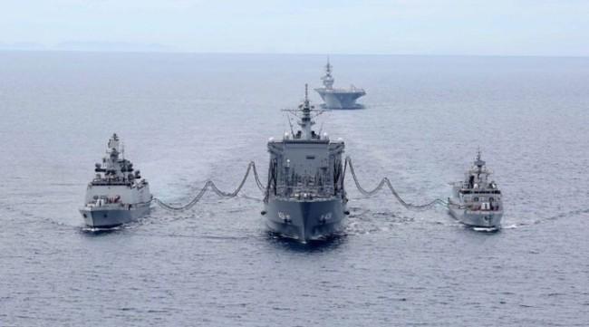 """美国航母及日本航母将参加""""马拉巴尔""""二阶段演习"""