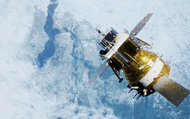 嫦娥五号飞行效果图。图/中国航天科技集团八院