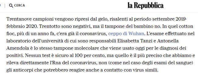 截图来自意大利《共和报》的报道