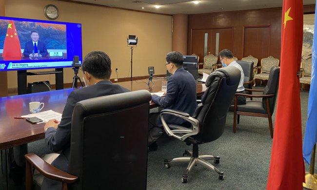 中方在气候雄心峰会发言中国常驻联合国代表团图