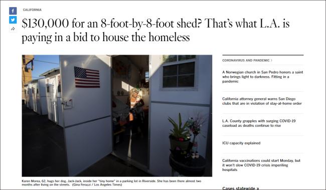《洛杉矶时报》报道截图