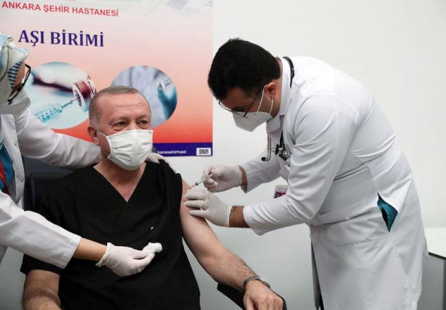 土耳其总统接种中国疫苗