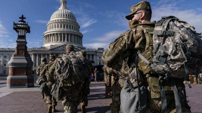 美国华盛顿特区200余名国民警卫队成员新冠病毒检测呈阳性