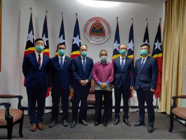 东帝汶总理会见中国援助东帝汶医疗队