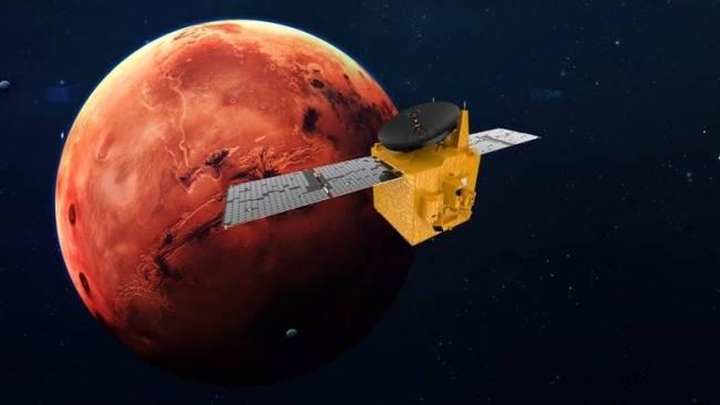 """△希望号 图片来源:""""希望号""""火星任务团队"""